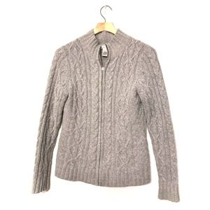 Cambridge Dry Goods Wool/Angora Cable Knit Sweater